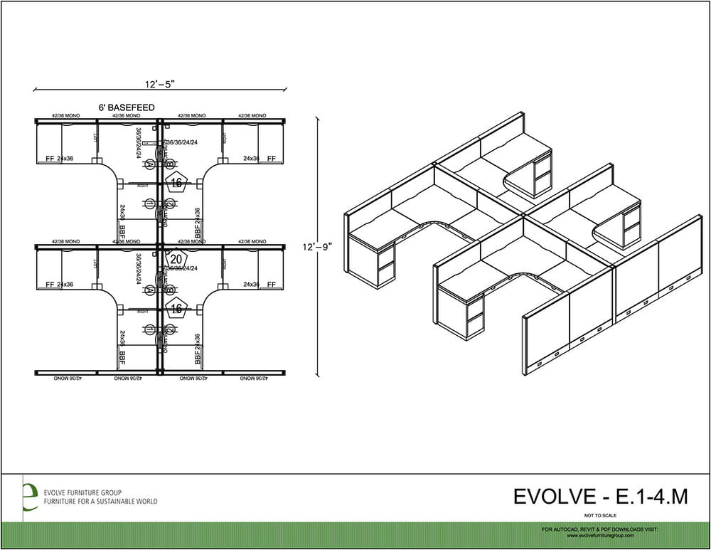 New Layouts on Cubicle Furniture Layout